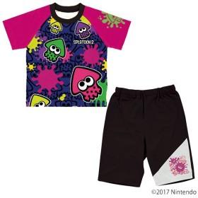 スプラトゥーン2 カラチェン半袖パジャマ パープル 男の子 キャラクターパジャマ パープル 男の子 パジャマ