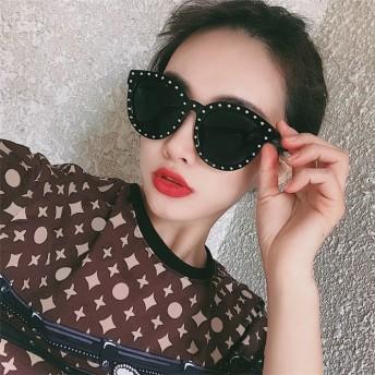 韓国ファッション通販業界1位 サングラス レディース UVカット ビックフレーム グラデーション 偏光 UV対策 眼鏡 メガネ 伊達メガネ 小顔効果 紫外線対策
