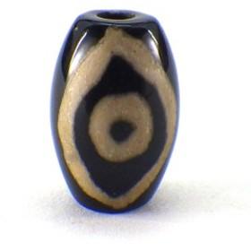 佛眼天珠(ミニ)(黒)(1個)チベット 天珠 バラ売り 天然石 1粒売り 1玉 パーツ 風水グッズ 風水 ゆうパケット送料無料