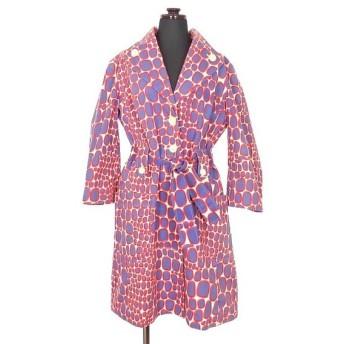 イーリーキシモト ELEY KISHIMOTO 総柄 スプリングコート ジャケット 七分袖 10 オフホワイト/ネイビー/レッド 白 紺 赤 SSAW