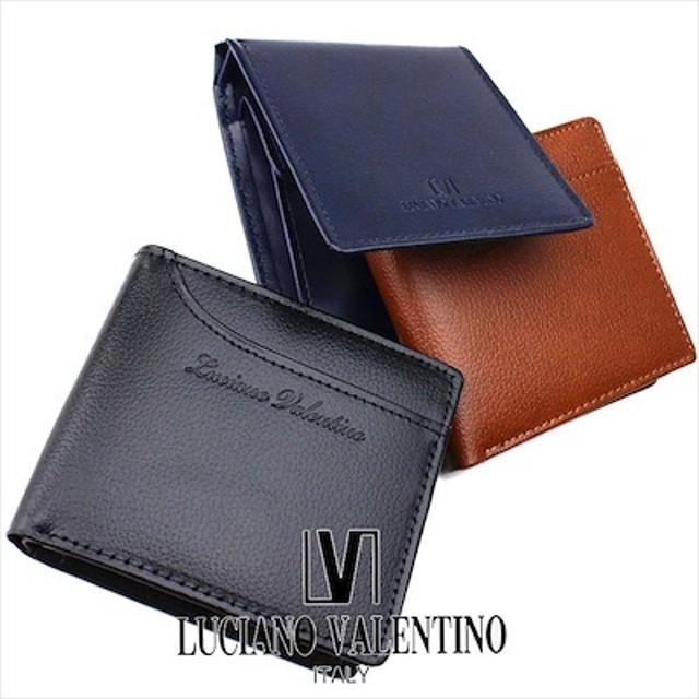 b0b172418eb1 ルチア―ノ バレンチノ LUCIANO VALENTINO 二つ折り財布 財布 ボックス型小銭入れ LUV-