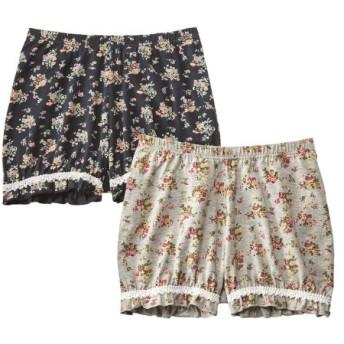 綿混締め付けないおやすみ用深ばきショーツ2枚組 スタンダードショーツ,Panties