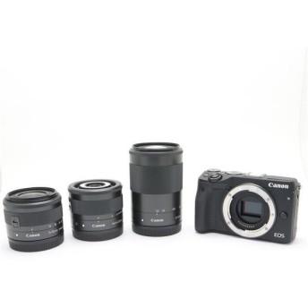 《美品》Canon EOS M3 クリエイティブマクロトリプルレンズキット ブラック