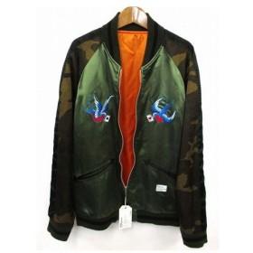 未使用品 ベドウィン BEDWIN CAMO SOUVENIR JKT MCKNIGHT タイトフィット スカジャン カモフラ 迷彩 刺繍 リバーシブ