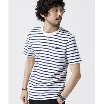 【40%OFF】 ナノ・ユニバース ショートリングパイルTシャツ メンズ パターン1 S 【nano・universe】 【セール開催中】