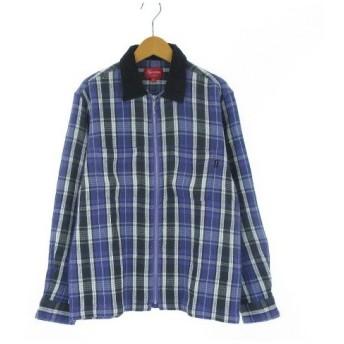 未使用品 シュプリーム SUPREME 18AW Plaid Thermal Zip Up Shirt シャツ 長袖 チェック ジップアップ 全タグ