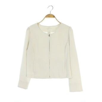 プロポーション ボディドレッシング PROPORTION BODY DRESSING ジャケット ノーカラー ジップアップ 3 オフホワイト /AA