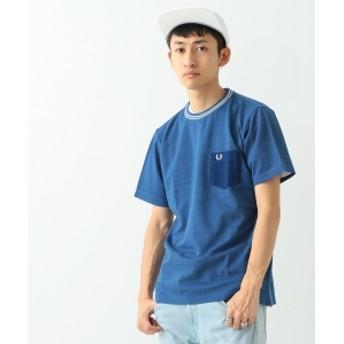 FRED PERRY × BEAMS / 別注 芯白カノコ ポケットTシャツ メンズ Tシャツ SAX INDIGO L