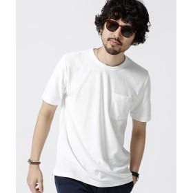 【40%OFF】 ナノ・ユニバース ショートリングパイルTシャツ メンズ ホワイト L 【nano・universe】 【セール開催中】