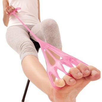 レッグストレッチチューブ ストレッチ 健康器具 チューブ 脚 足 5本指 タオルつかみ 負荷 足指 ふくらはぎ 太もも 股関節 代引不可