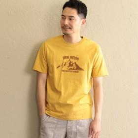 SALE【ザ・スコッチハウス(THE SCOTCH HOUSE)】 ベン・ネービスプリントTシャツ マスタード