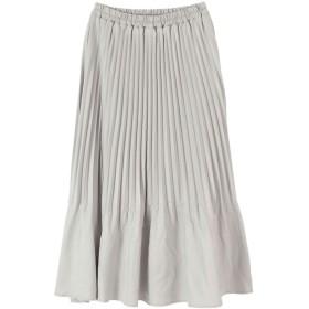 ティティベイト titivate 裾消しプリーツスカート (ライトグレー)