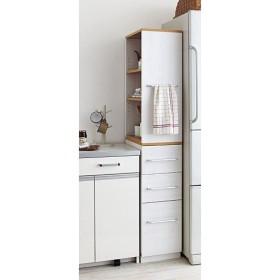 キッチンすき間積み重ねラック - セシール ■サイズ:L(引出しタイプ/幅30)
