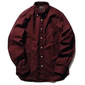BEAMS PLUS / カラー オックスフォード ボタンダウン シャツ メンズ カジュアルシャツ BURGUANDY XS