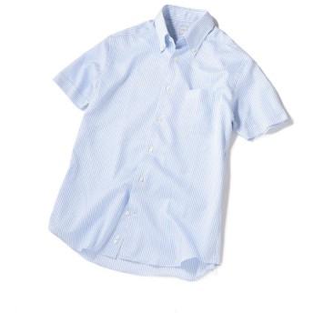 【シップス/SHIPS】 SD: SPOERRY ICE COTTON(R) ショートスリーブ シャツ(ライトブルー)