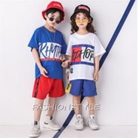 キッズダンス衣装 子供ダンス 団体服 HIPHOP ヒップホップ キッズ 子ども 女の子 男の子 ショートパンツ Tシャツ 半袖 体操服 練習着