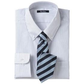 【メンズ】 先染め形態安定ビジネスシャツ(長袖) ■カラー:ボタンダウン ■サイズ:M,L,LL