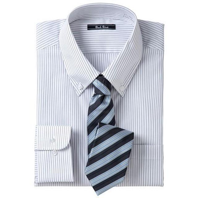 【メンズ】 先染め形態安定ビジネスシャツ(長袖) ■カラー:ボタンダウン ■サイズ:L,LL,M