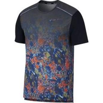 (セール)NIKE(ナイキ)ランニング メンズ半袖Tシャツ ナイキ RISE 365 ウィンドランナー プリンテッド S/S トップ BQ8326-438 メンズ インディゴフォース/ブラック/(リフレクトシルバー)