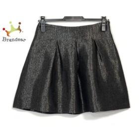 セオリー theory スカート サイズ0 XS レディース 美品 黒×シルバー   スペシャル特価 20190806