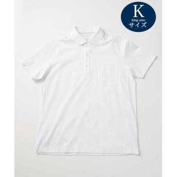 【オンワード】 JOSEPH ABBOUD(ジョセフ アブード) 【キングサイズ・JOE COTTON】サッカー ポロシャツ ホワイト 2L メンズ 【送料無料】