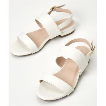 Wベルトローヒールサンダル(低反発中敷)(ワイズ4E) サンダル, Sandals, 凉鞋, 涼鞋