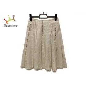 ニジュウサンク 23区 スカート サイズ36 S レディース アイボリー×ブラウン   スペシャル特価 20190805