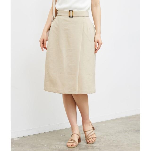 ROPE' PICNIC ロペピクニック ラップ風ベルト付きスカート