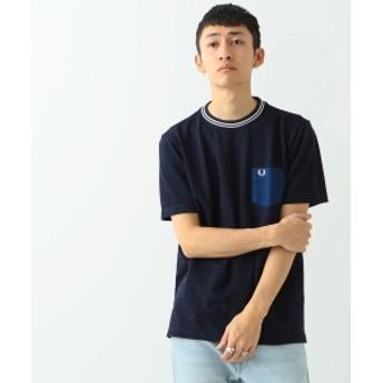 FRED PERRY × BEAMS / 別注 芯白カノコ ポケットTシャツ メンズ Tシャツ INDIGO XS