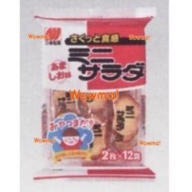 UU三幸製菓 2枚X12袋 ミニサラダあましお味×16個【1k】