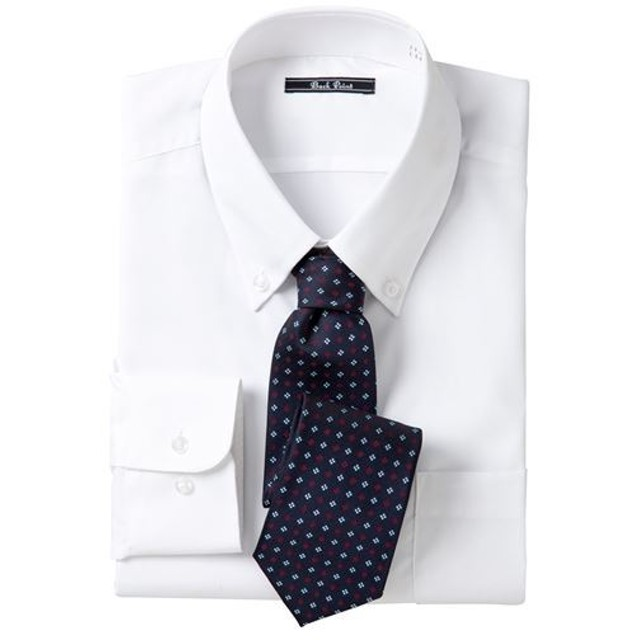 【メンズ】 形態安定ビジネスシャツ(長袖) ■カラー:ボタンダウン ■サイズ:M,L,LL