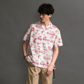 SALE【ラブレス(LOVELESS)】 【LOVELESS】MEN Toile du Jouy アロハシャツ 【LOVELESS】MEN Toile du Jouy アロハシャツ レッド1