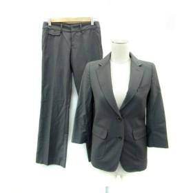 マウジー moussy スーツ セットアップ 上下 ジャケット テーラード 七分袖 ミドル丈 シングルボタン パンツ スラックス ロング丈 上P 下0