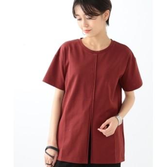 Ray BEAMS / スリット チュニックTシャツ レディース Tシャツ BROWN ONE SIZE