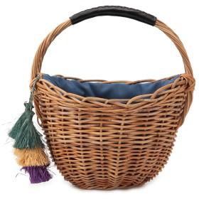 HALIN [ハリン][カゴ]HALIN アラログ バスケット / Round Basket かごバッグ,ブルー