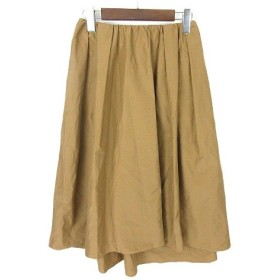 ユニバーバル ミューズ UNIVERVAL MUSE スカート フレアスカート ロング ミモレ丈 フィッシュテールスカート 2 キャメル ※Y レディ