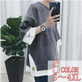 2019超人気 春夏 Tシャツ 2カラ―半袖T シャツ メンズ 韓国ファッション