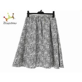 ホコモモラ JOCOMOMOLA スカート サイズ40 XL レディース 美品 アイボリー×黒 de sybilla 新着 20190831
