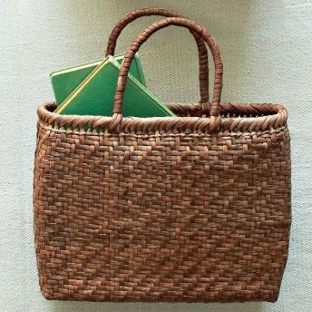 【婦人画報】山ぶどう網代編み籠バッグ