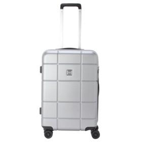 【TITAN】ジッパースーツケース S【機内持込みサイズ】【1-2泊対応】 シルバー
