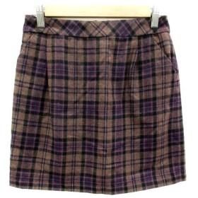 プロポーション ボディドレッシング PROPORTION BODY DRESSING スカート 台形 ミニ丈 タータンチェック柄 ウール混 マルチカラ