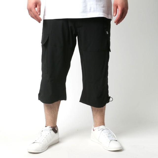その他パンツ・ズボン - MARUKAWA OUTDOOR PRODUCTS ショートパンツ 大きいサイズ メンズ 夏 7分丈 カーゴ ブラック/ベージュ/オリーブ/グリーン2L/3L/4L/5L【ブランド ストレッチ ハーフパンツ】