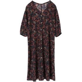 【5,000円以上お買物で送料無料】womens ペイズリーシャツワンピース