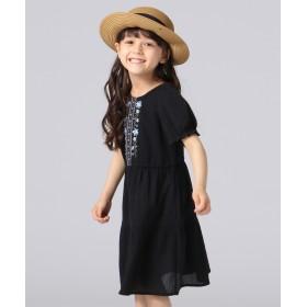 【オンワード】 any FAM KIDS(エニィファム キッズ) 【KIDS】ボヘミアン調 刺繍 ワンピース ブラック 100 キッズ 【送料無料】