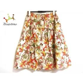 ホコモモラ JOCOMOMOLA スカート サイズ40 XL レディース アイボリー×マルチ 花柄   スペシャル特価 20190803