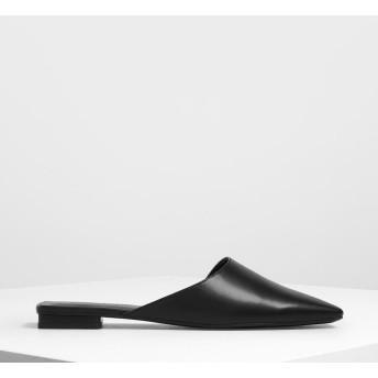スクエアトゥ スライダー / Square Toe Sliders (Black)