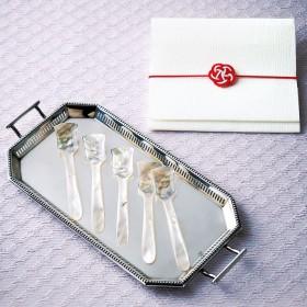 【婦人画報】白蝶貝真珠の母貝のスプーン 5本組