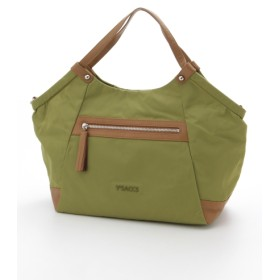 50%OFF Y'SACCS(bag) (イザック(バック)) バイカラーギャザートートバッグMサイズ グリーン