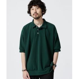 【30%OFF】 ナノ・ユニバース ビッグシルエットポロシャツ メンズ D.グリーン S 【nano・universe】 【セール開催中】