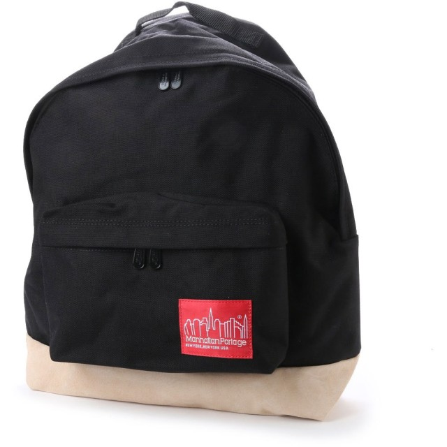 マンハッタンポーテージ Manhattan Portage Suede Fabric Backpack (Black)